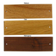 Wooden Stall Plate Plaque Walnut