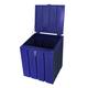 Lockable Storage Feed Bin Royal Blue