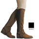 Dublin Ladies Suede Half Chaps X-Large Brown