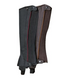 Ovation Elite Half Chaps Large Black/Brown