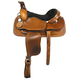 American Saddlery Barbwire Roper Saddle 18in Brown