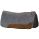 Mustang Felt Contoured Western Roper Pad 1in Gray