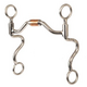 Western SS Med Arch Roller Hinged Futurity Bit