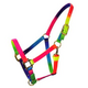 Deluxe Rainbow Adjustable Nylon Halter with Snap