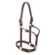 Weaver Double Buckle Leather Halter 3/4 In Brown
