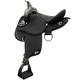 Abetta Round Skirt Trail Saddle 17In XW Black