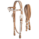 Royal King Silver V-Brow Headstall w/Reins Horse L