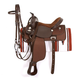 King Basic Synthetic Trail Saddle Package 17 Brown