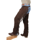 Tough-1 Western Boot Cut Chaps Brown XS