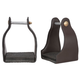 Tough-1 Leather Cushioned Trail Stirrups Brown