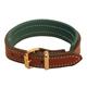 Tory Leather Padded Bracelet Oakbark