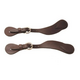Tory Leather Cowboy Button Cover Spur Straps