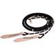 Western Vaquero Split Reins w/Leather Poppers Blac