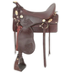 King Cavalry Soft Seat Saddle 16.5in Dark Brown