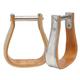 Tough-1 Wooden Metal Bound Roper Bell Stirrups