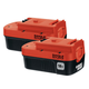 Black & Decker HPB18-OPE2 18V Ni-Cd Slide Battery (2-Pack)