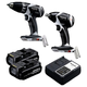 Panasonic EYC105LR 14.4V Cordless Lithium-Ion Drill Driver and Impact Wrench Combo Kit