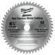 Milwaukee 48-40-4006 6-7/8 in. Circular Saw Blade (52 Tooth)