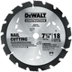 Dewalt DW3191 7-1/4 in. 18 Tooth Series 20 Nail Cutting Circular Saw Blade