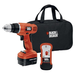 Black & Decker GCO12SFB 12V Cordless Drill with Stud Sensor and Storage Bag