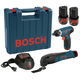 Bosch PS50-2C 12V Max Cordless Lithium-Ion 1/4 in. Drill Driver and Multi-Tool Combo Kit