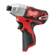 Milwaukee 2462-20 M12 12V Cordless Lithium-Ion 1/4 in. Hex Impact Driver (Bare Tool)
