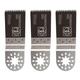 Fein 63502126120 Multi-Mount 1-3/8 in. Precision E-Cut Blade (3-Pack)