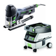 Festool PM561593 Carvex Barrel Grip Jigsaw with CT MINI 2.6 Gallon Mobile Dust Extractor