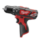 Milwaukee 2408-20 M12 12V Cordless Lithium-Ion 3/8 in. Hammer Drill/Driver (Bare Tool)