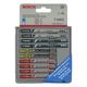 Bosch T5002 10-Piece T-Shank Jigsaw Blade Set