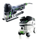 Festool P26561593 Carvex Barrel Grip Jigsaw with CT 26 E 6.9 Gallon HEPA Mobile Dust Extractor