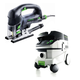 Festool P26561608 Carvex PSB 420 EBQ D-Handle Jigsaw with CT 26 E 6.9 Gallon HEPA Mobile Dust Extractor