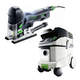 Festool P36561593 Carvex Barrel Grip Jigsaw with CT 36 E 9.5 Gallon HEPA Mobile Dust Extractor