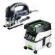 Festool PD561608 Carvex D-Handle Jigsaw with CT MIDI 3.3 Gallon Mobile Dust Extractor
