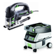Festool PM561608 Carvex D-Handle Jigsaw with CT MINI 2.6 Gallon Mobile Dust Extractor