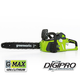 Greenworks 20312 40V G-MAX Cordless Lithium-Ion DigiPro Brushless 16 in. Chainsaw Kit