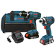 Bosch CLPK25-180 18V Cordless Lithium-Ion 3/8 in. Drill Driver and Impact Driver Combo Kit