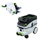 Festool P26561438 Plunge Cut Circular Saw in T-Loc with CT 26 E 6.9 Gallon HEPA Mobile Dust Extractor