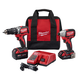 Factory Reconditioned Milwaukee 2799-82CX M18 Cordless Lithium-Ion Compact Brushless Hammer Drill and Impact Combo Kit