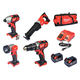 Milwaukee 2696-24 M18 18V Cordless Lithium-Ion 4-Tool Combo Kit