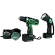 Hitachi DS14DVF3 14.4V Cordless 3/8 in. Ni-Cd Drill Driver Kit with Flashlight