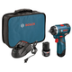 Bosch PS22-02 12V Max Lithium-Ion EC Brushless 2-Speed 1/4 in. Cordless Pocket Driver Kit (2 Ah)