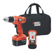Black & Decker GCO14SFB 14.4V Cordless Drill with Stud Sensor and Storage Bag