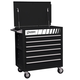 Sunex 8057BK 6-Drawer Professional Duty Cart (Black)