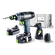Festool 564514 TXS 10.8V 2.6 Ah Cordless Lithium-Ion 3/8 in. Drill Set