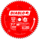 Diablo D0760X 7-1/4 in. 60 Tooth Ultra Fine Finishing Saw Blade