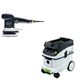 Festool P36571916 6 in. Random Orbital Finish Sander with CT 36 E 9.5 Gallon HEPA Dust Extractor