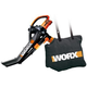 Worx WG502.2 12 Amp Single Speed TriVac Deluxe Handheld Electric Blower Mulcher Vac