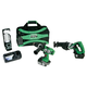 Hitachi KC18DAL HXP 18V Cordless Lithium-Ion 3-Tool Combo Kit