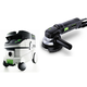 Festool P26570789 4-1/2 in. Rotary Sander with CT 26 E 6.9 Gallon HEPA Mobile Dust Extractor
